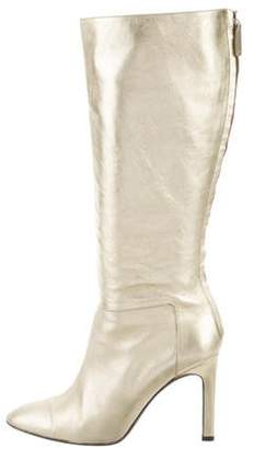 Valentino Metallic Leather Knee-High Boots