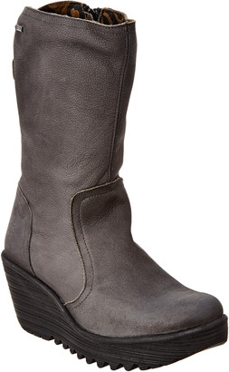 Fly London Yups Leather Wedge Boot
