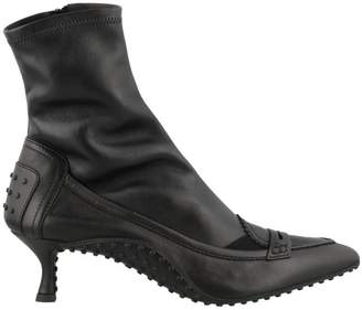 Tod's Leather Tronchetto Ankle Boots
