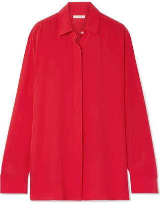 The Row Big Sea Oversized Silk Crepe De Chine Shirt - Red