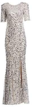 Rachel Gilbert Women's Zowie Sequin Gown - Silver - Size 14