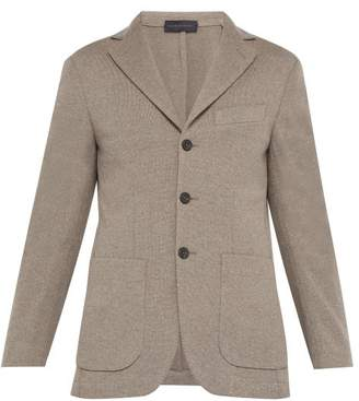 Thom Sweeney - Single Breasted Knitted Wool Blazer - Mens - Light Brown