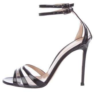 Gianvito Rossi Patent Leather Ankle Strap Sandals