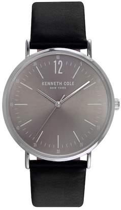 Kenneth Cole New York Men's Quartz Leather Strap Watch, 38mm