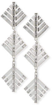 Lulu Frost Cascadia Pine Drop Earrings, Silvertone