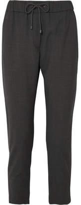 Brunello Cucinelli Bead-embellished Wool-blend Track Pants