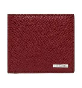 HUGO BOSS Signature Embossed Leather 8Cc Billfold Wallet