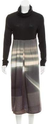 agnès b. Abstract Midi Dress