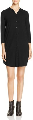 Eileen Fisher Mandarin Collar Shirt Dress $188 thestylecure.com