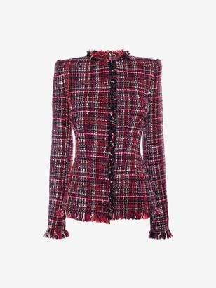 Alexander McQueen Artisan Tweed Fitted Jacket