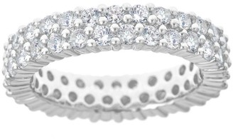 Affinity Diamond Jewelry Double Row Diamond Band Ring 14K Gold,by Affinity