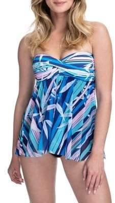Gottex Palm Beach Bandeau Flyaway One-Piece Swimsuit