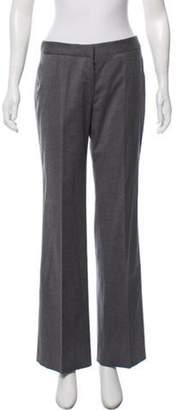 Alexander McQueen Fleece Wool Mid-Rise Pants Grey Fleece Wool Mid-Rise Pants