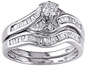 Affinity Diamond Jewelry Round & Tapered Diamond Ring Set, 14K, 1/2 cttw