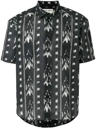 Saint Laurent printed short sleeve shirt