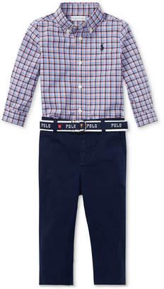 Polo Ralph Lauren Ralph Lauren Baby Boys Plaid Shirt & Chino Pants Set