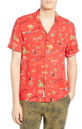 d7d97eda Scotch & Soda Hawaiian Fit Aloha Print Camp Shirt