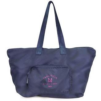 Nautica New Tack Packable Large Tote with Front Pocket