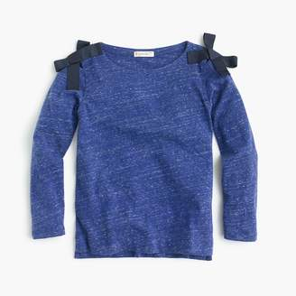 J.Crew Girls' long-sleeve T-shirt with bows