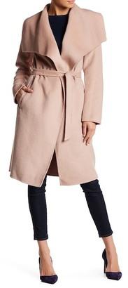Soia & Kyo Drape Front Wool Blend Coat $480 thestylecure.com