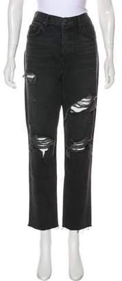 GRLFRND High-Rise Straight-Leg Jeans w/ Tags