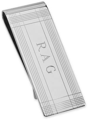 Asstd National Brand Sterling Silver Personalized Tartan Money Clip
