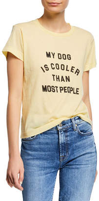 Wildfox Couture My Dog Is Cooler Crewneck Graphic Tee