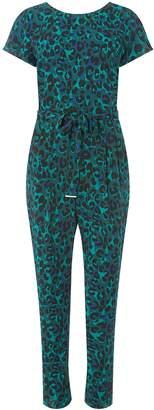 c02738296dfa Dorothy Perkins Womens Green Animal Print Jumpsuit