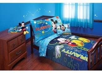 Disney Baby, Childrens, Toddler 4 Piece Bedding Set (Mickey Mouse Zero Gravity)