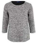 Sweatshirt, Metallgarn, Melange, Taschen