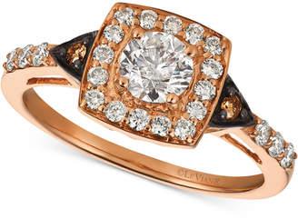 LeVian Le Vian Chocolatier Diamond Ring (7/8 ct. t.w.) in 14k Rose Gold