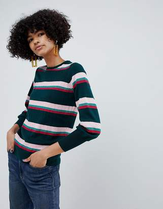 B.young Metallic Stripe Sweater
