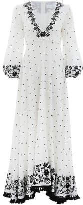 Zimmermann Tali Plunge Embroidered Dress