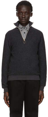 Harmony Grey Sansa Zip-Up Sweater