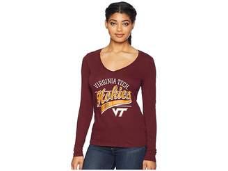 Champion College Virginia Tech Hokies Long Sleeve V-Neck Tee