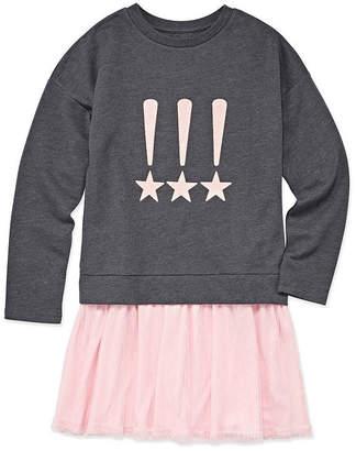 Total Girl Arizona Long Sleeve Sweater Dress - Big Kid Girls