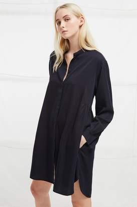 French Connenction Sunny Grandad Collar Shirt Dress