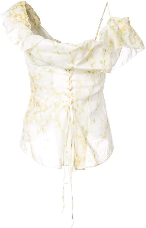Brock Collection asymmetric ruffle blouse