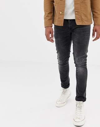Nudie Jeans Tight Terry super skinny fit jeans in rainy black