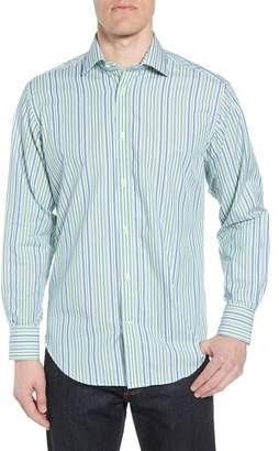 Thomas Dean Regular Fit Stripe Sport Shirt