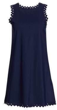 Karla Colletto Swim Zigzag Trimmed Roundneck Dress