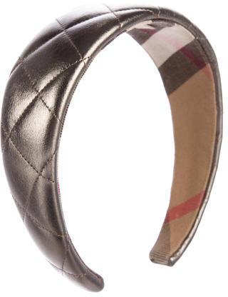 Burberry Burberry Metallic Quilted Headband
