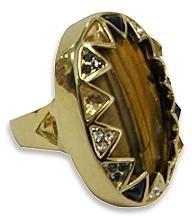 House Of Harlow 1960 - Tiger Eye Ring **PRE ORDER ITEM**