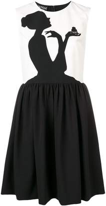 Moschino silhouette skater dress