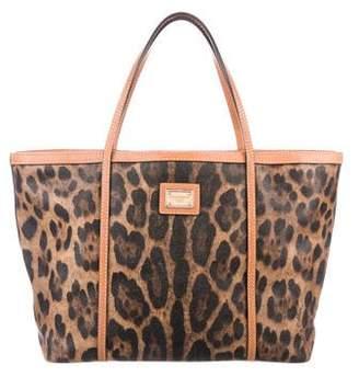 Dolce & Gabbana Leather-Trimmed Tote
