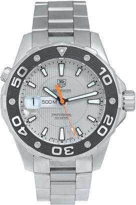 Pre-Owned Gents Aquaracer Steel Watch. With Original Paperwork. Ref WAJ1111