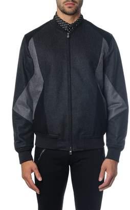 Alexander McQueen Black Panelled Wool Down Jacket