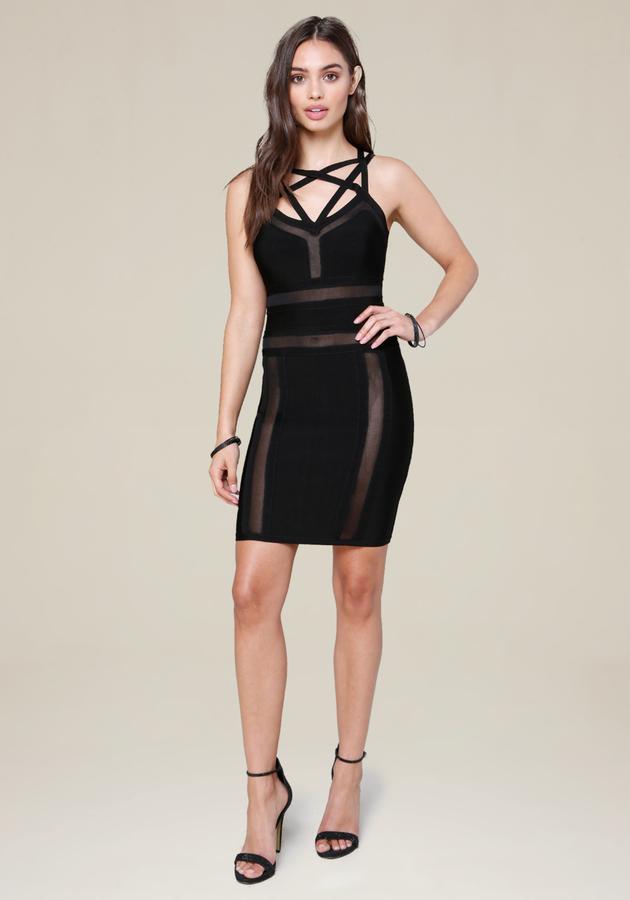 Mesh & Cage Dress