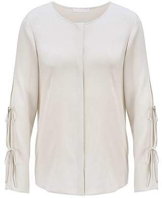 HUGO BOSS Bow-detail blouse in stretch crepe de chine