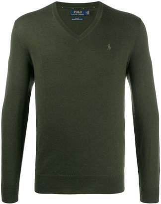 Polo Ralph Lauren logo embroidered V-neck sweater